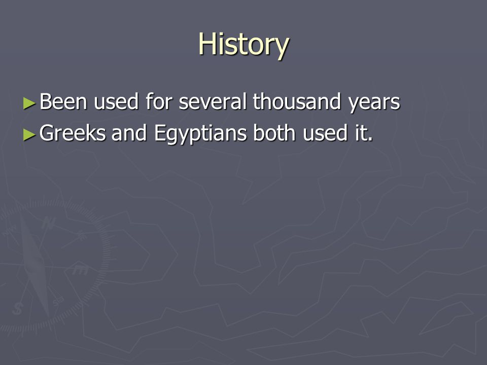 Gypsum and Lime  History ▻ Been used for several thousand years