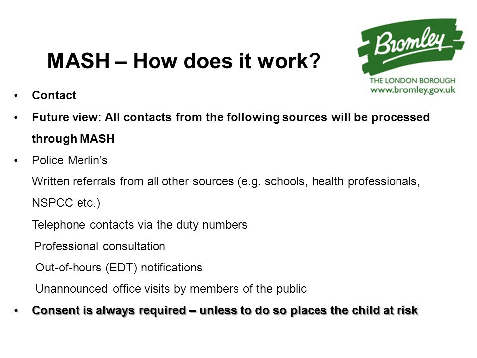 MASH – How does it work.