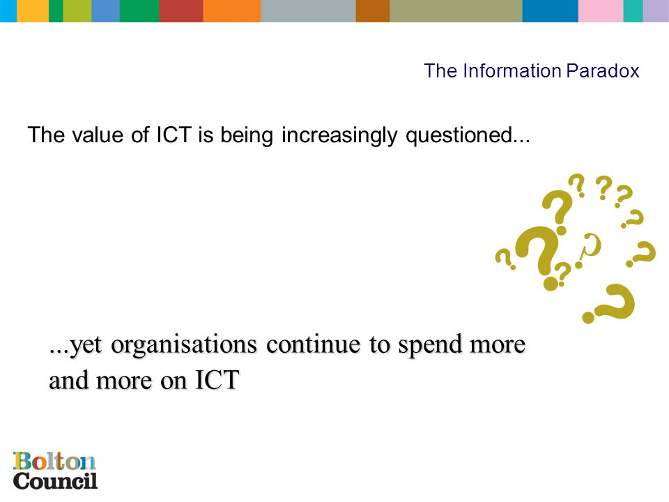 ICT – The Information Challenge