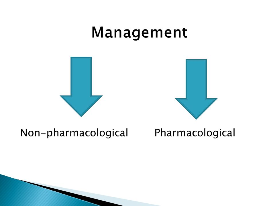 Management Non-pharmacologicalPharmacological