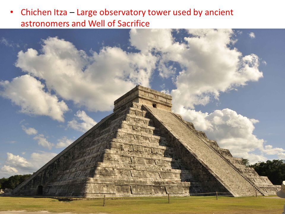 Chichen Itza – Large observatory tower used by ancient astronomers and Well of Sacrifice