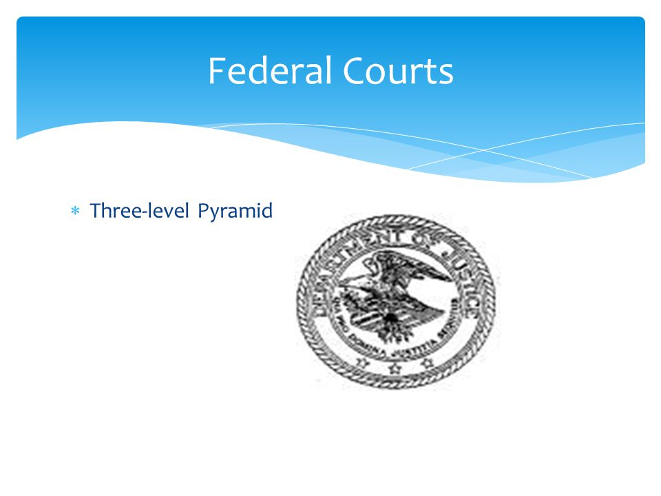  Three-level Pyramid Federal Courts