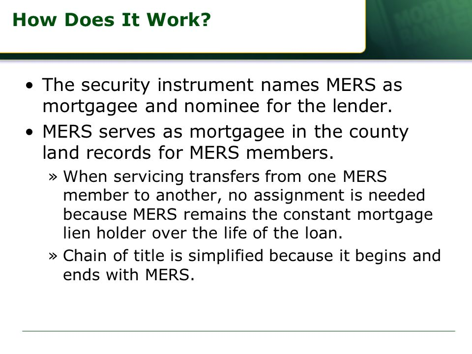 mers assignment