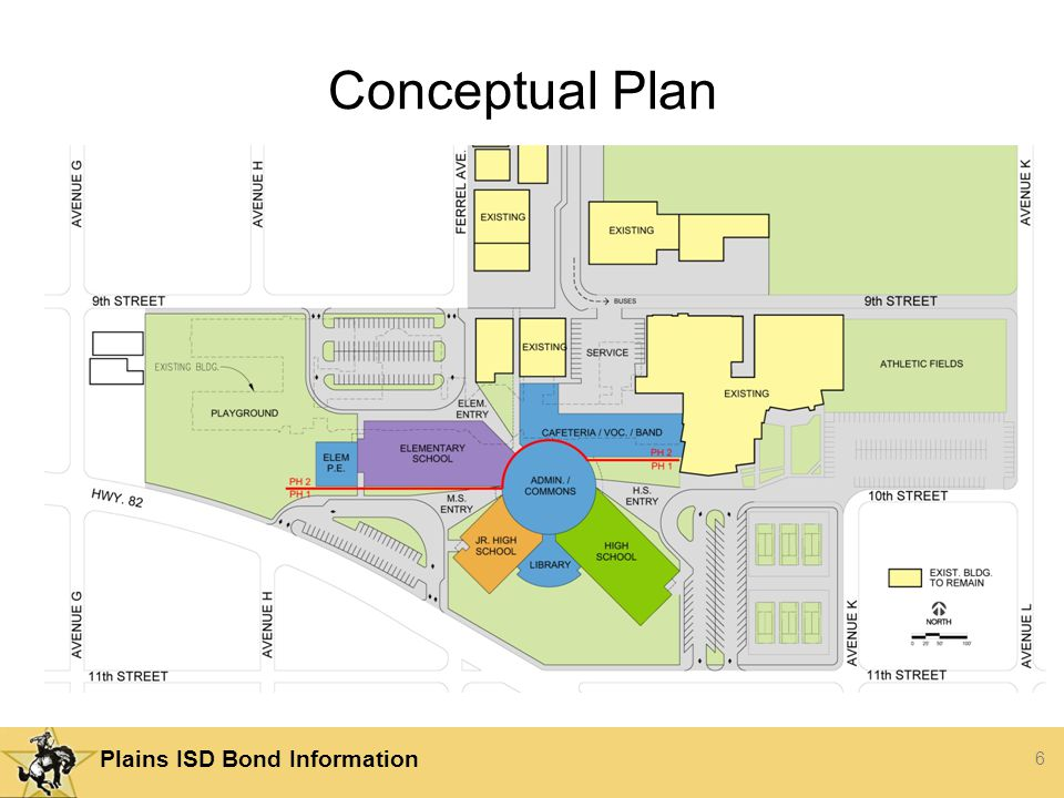 6 Plains ISD Bond Information Conceptual Plan