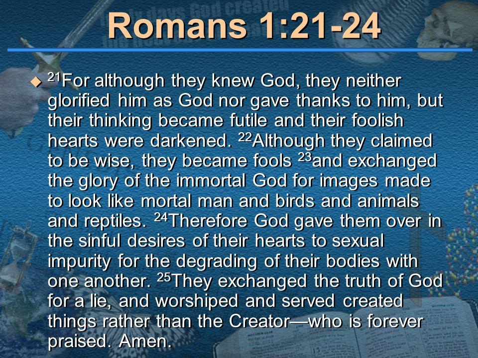 Kuvahaun tulos haulle Romans 1:21