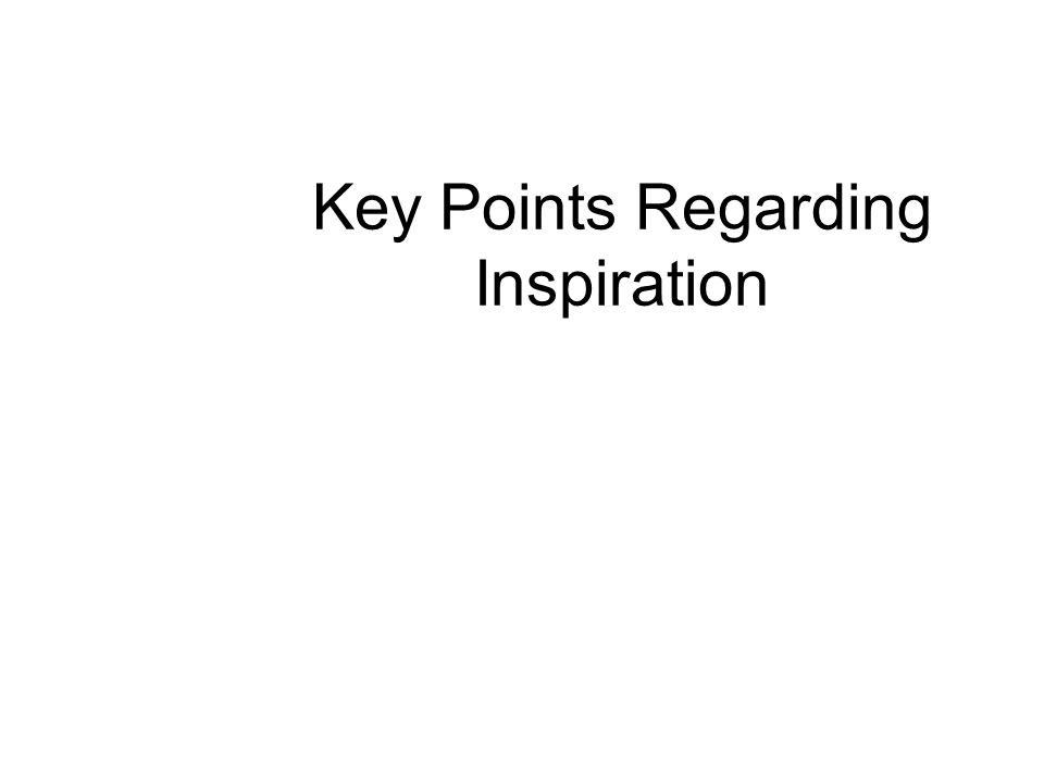 Key Points Regarding Inspiration