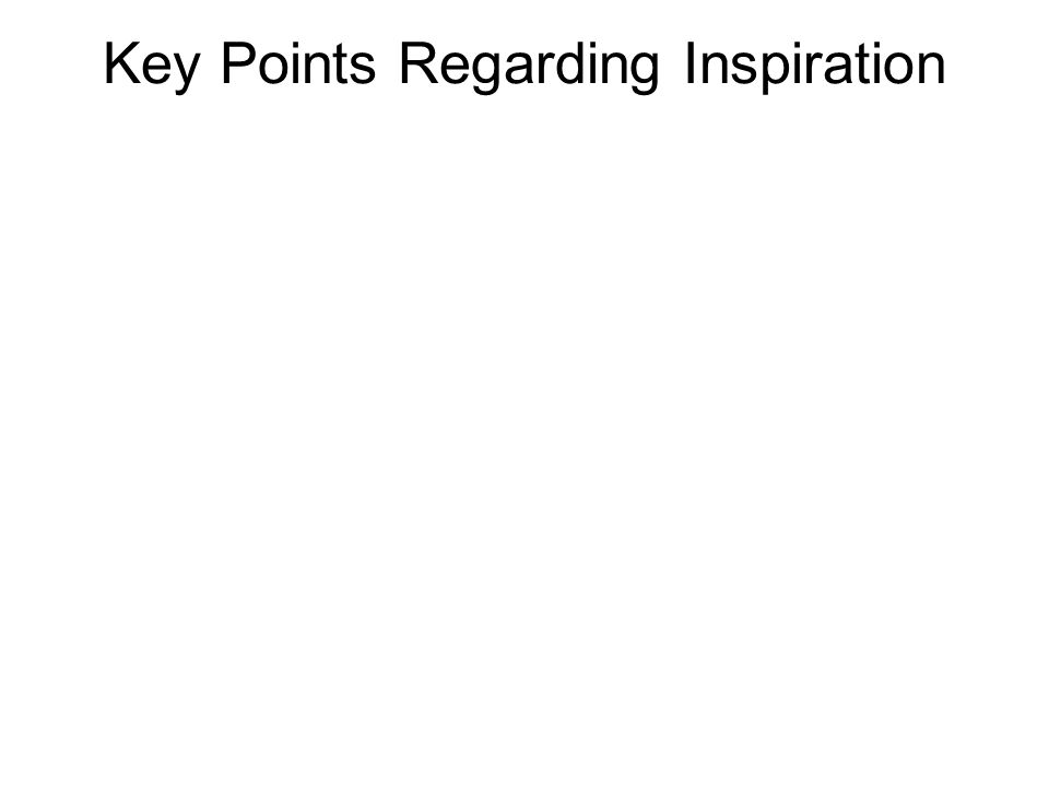 Key Points Regarding Inspiration Human authors of Scripture exhibit variation in style, vocabulary, genre, and literary competence