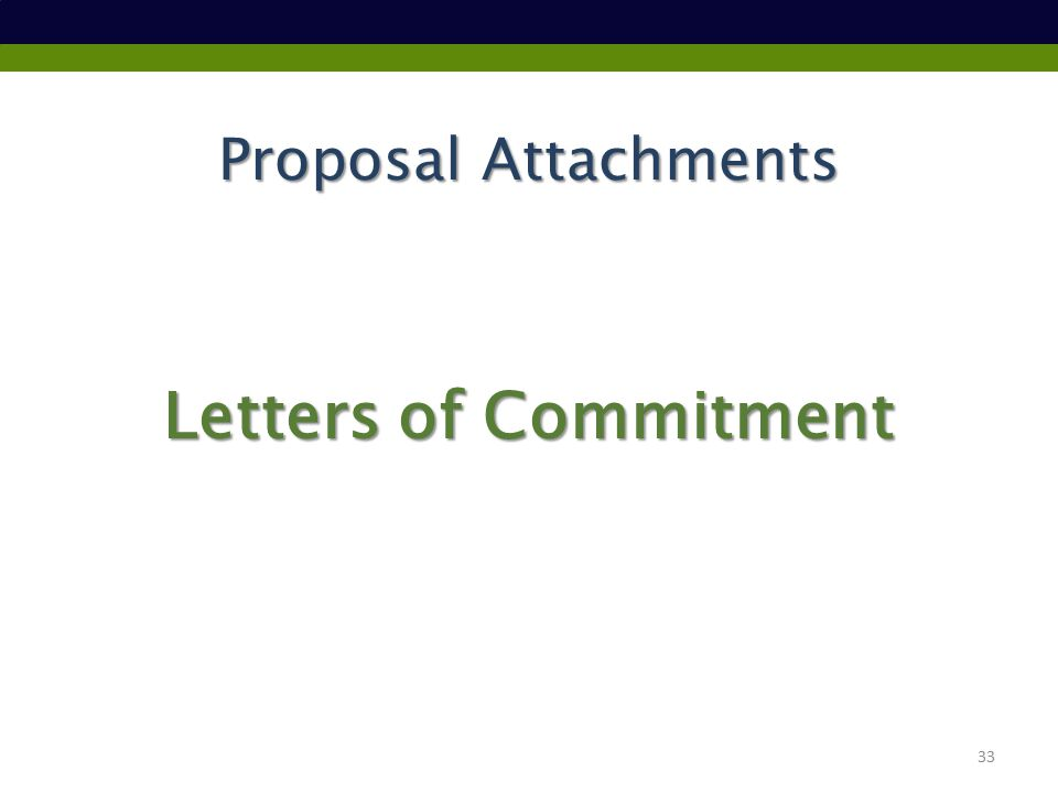 Proposal Attachments Letters of Commitment 33