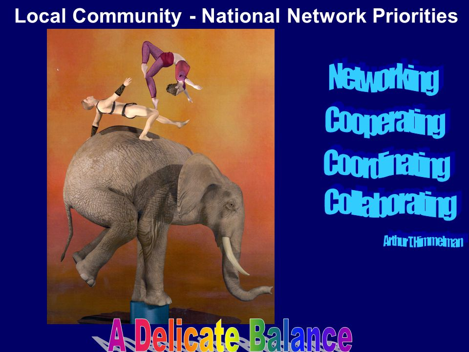 Local Community - National Network Priorities