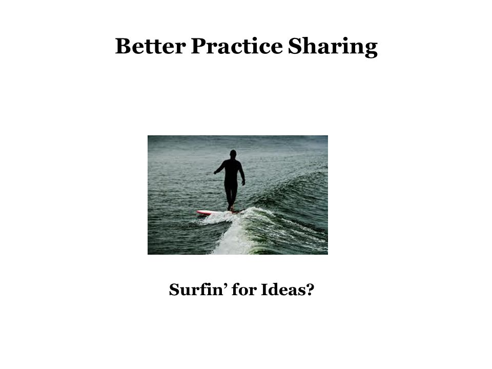 Surfin' for Ideas Better Practice Sharing