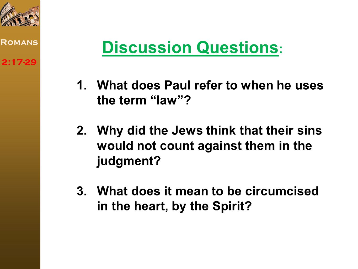 Romans 2: What does Paul refer to when he uses the term law .