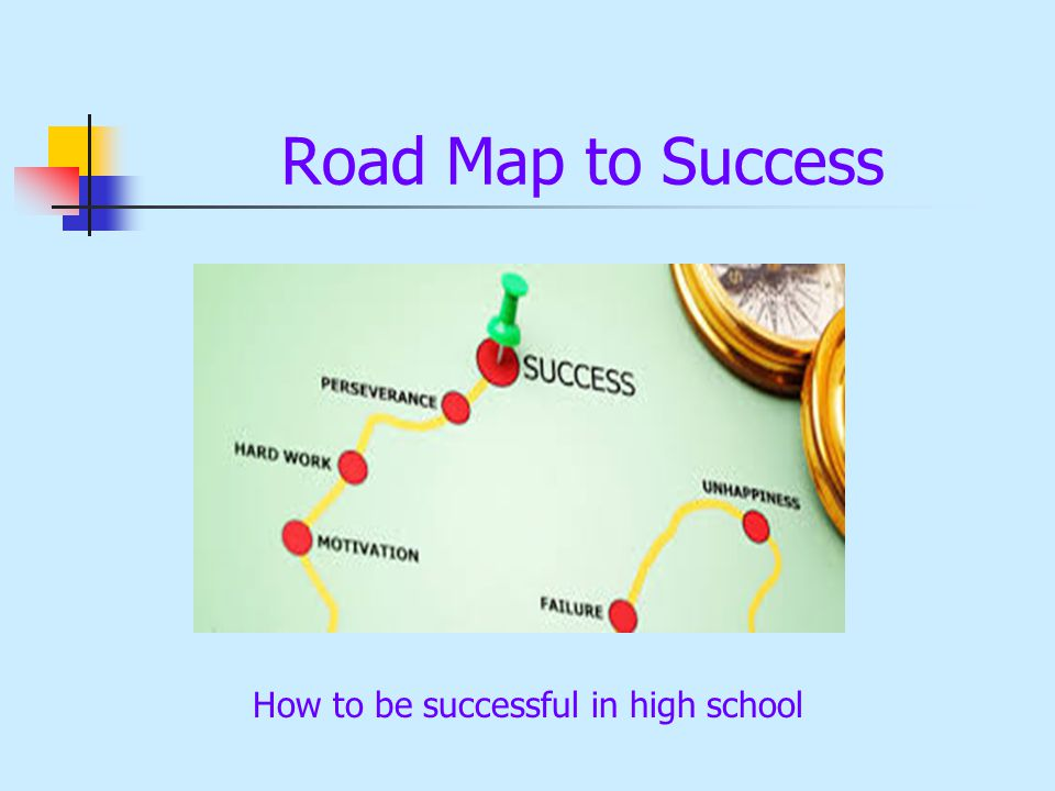 Road Map to Success How to be successful in high school