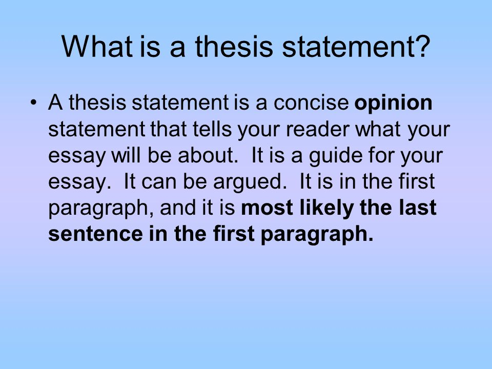 Sophomore Persuasive Essay What Is A Thesis Statement A Thesis  What Is A Thesis Statement