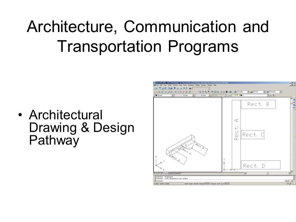 Architecture, Communication and Transportation Programs Architectural Drawing & Design Pathway