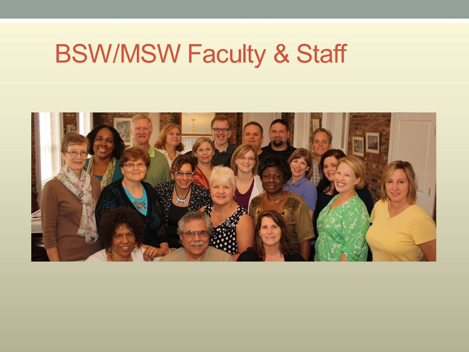 BSW/MSW Faculty & Staff