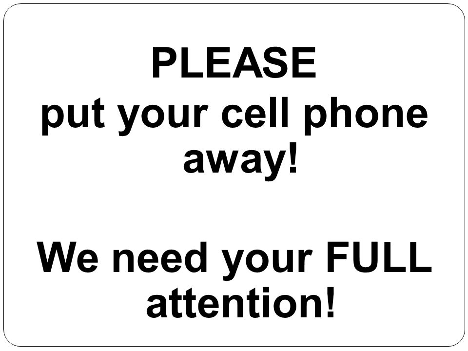 Germantown High School Student Services PLEASE put your cell phone away.