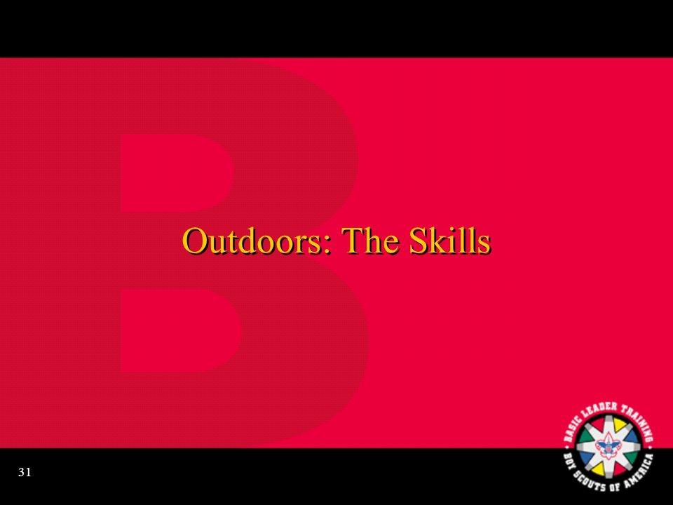 31 Outdoors: The Skills