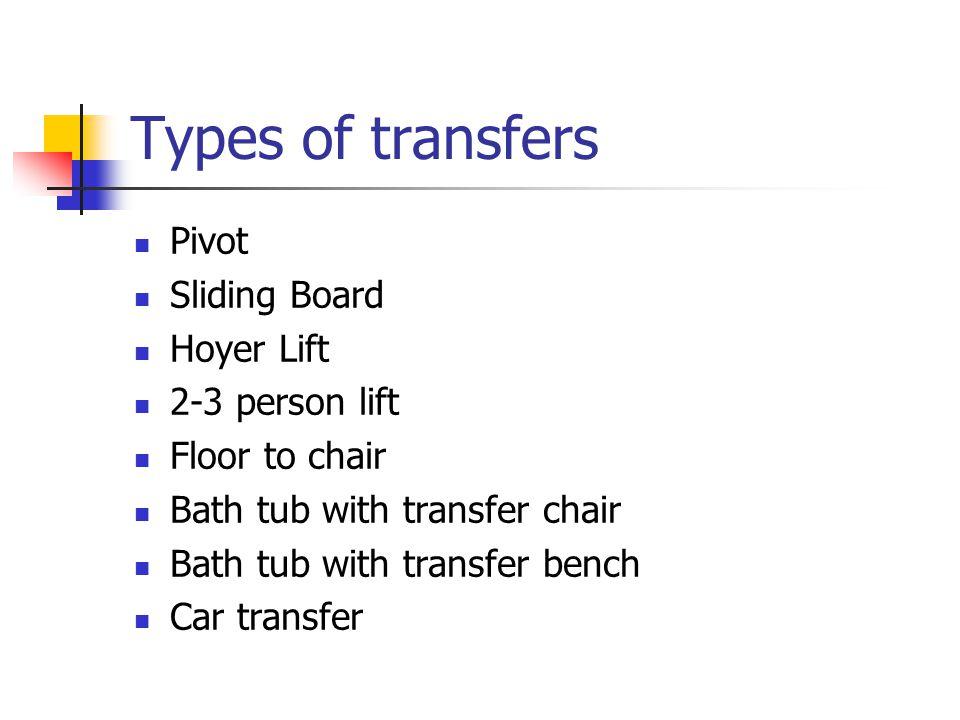 Body Mechanics & Transfer Techniques. Body Mechanics Efficient use ...