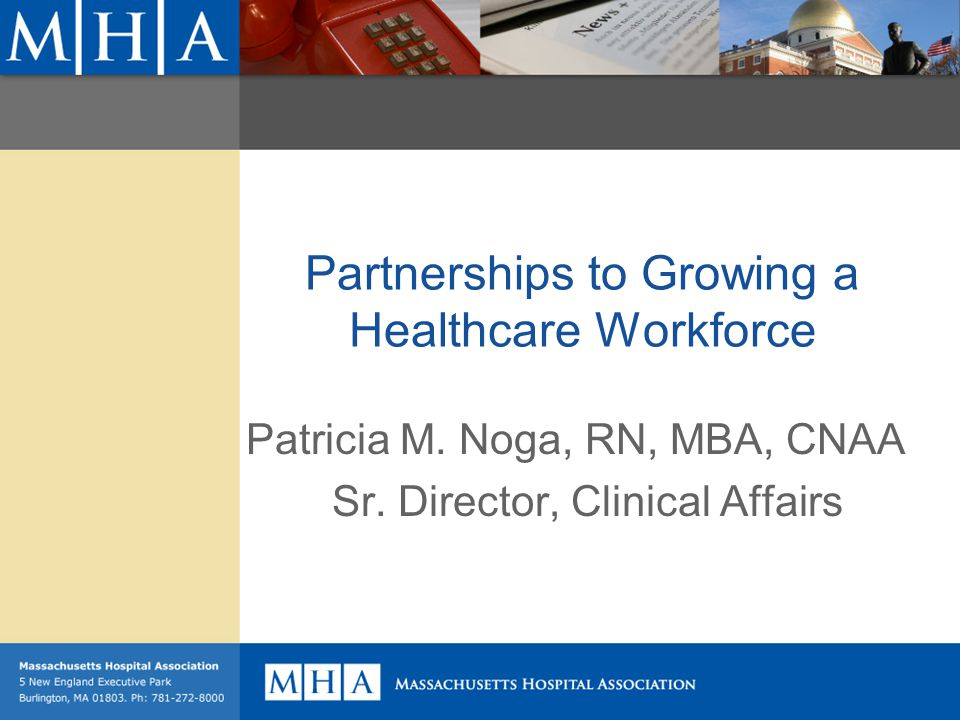 Partnerships to Growing a Healthcare Workforce Patricia M.