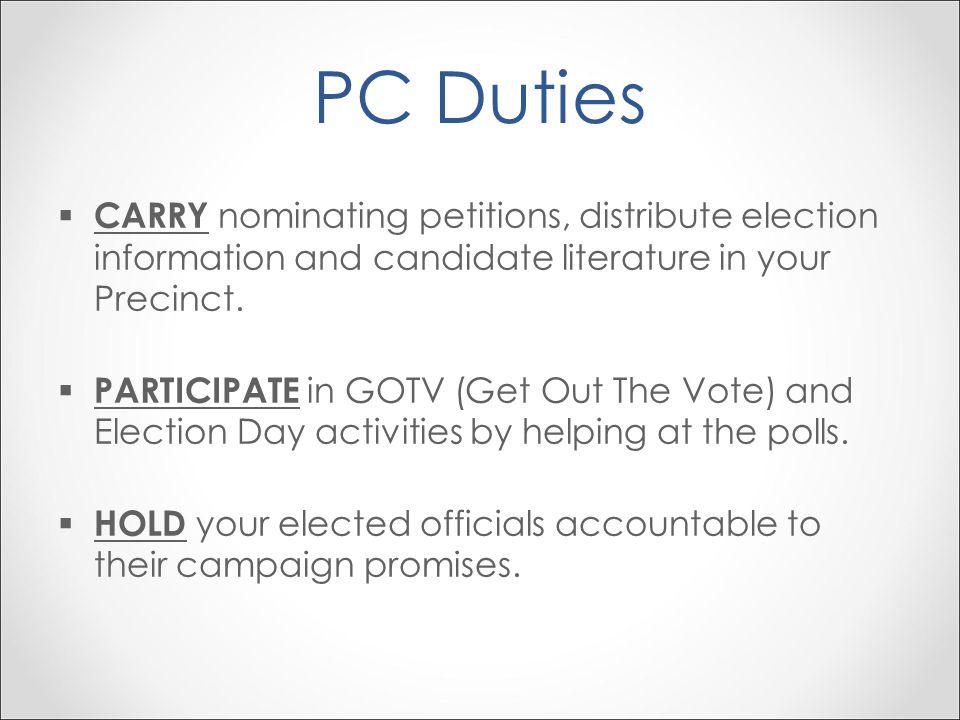 Welcome PC University Module 1 Precinct Committeemen  - ppt