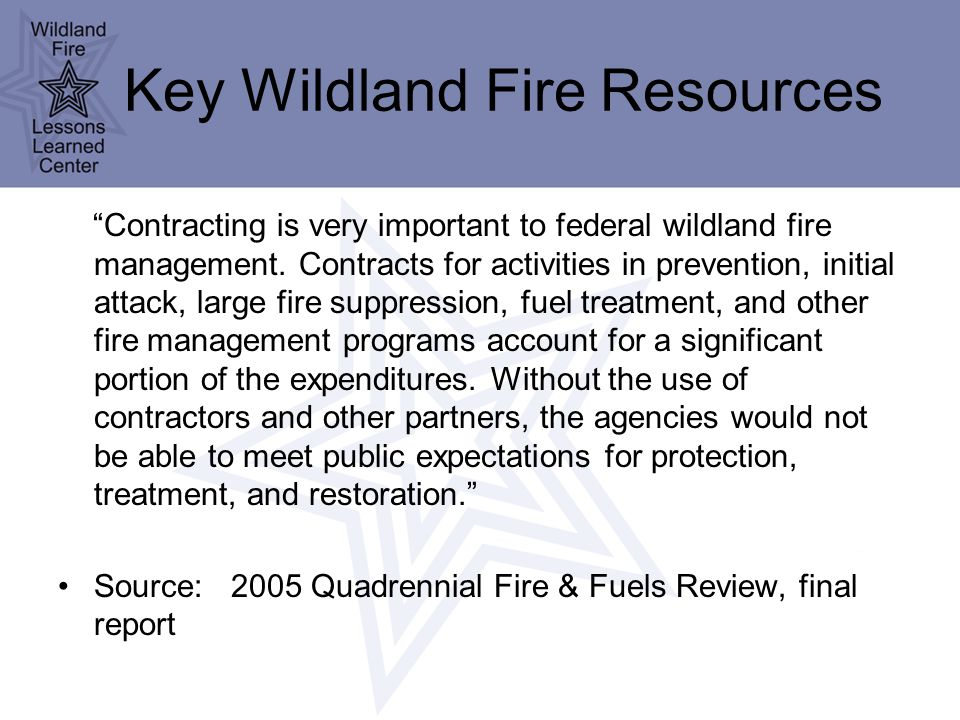The Changing Composition of Firefighting Resources: Agency