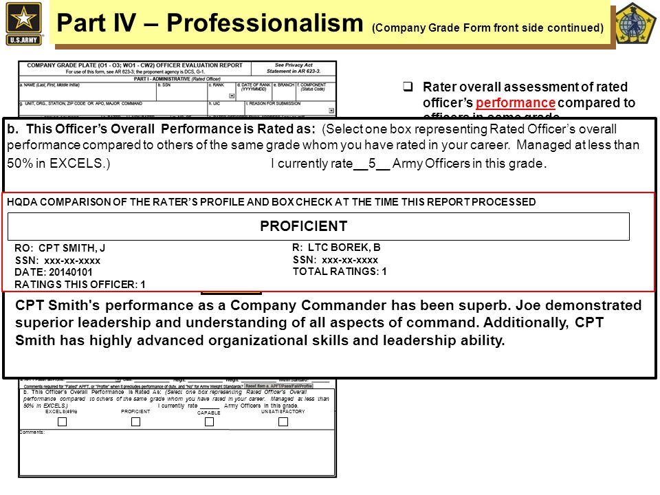 1 U S  ARMY HUMAN RESOURCES COMMAND Evaluation and Selection