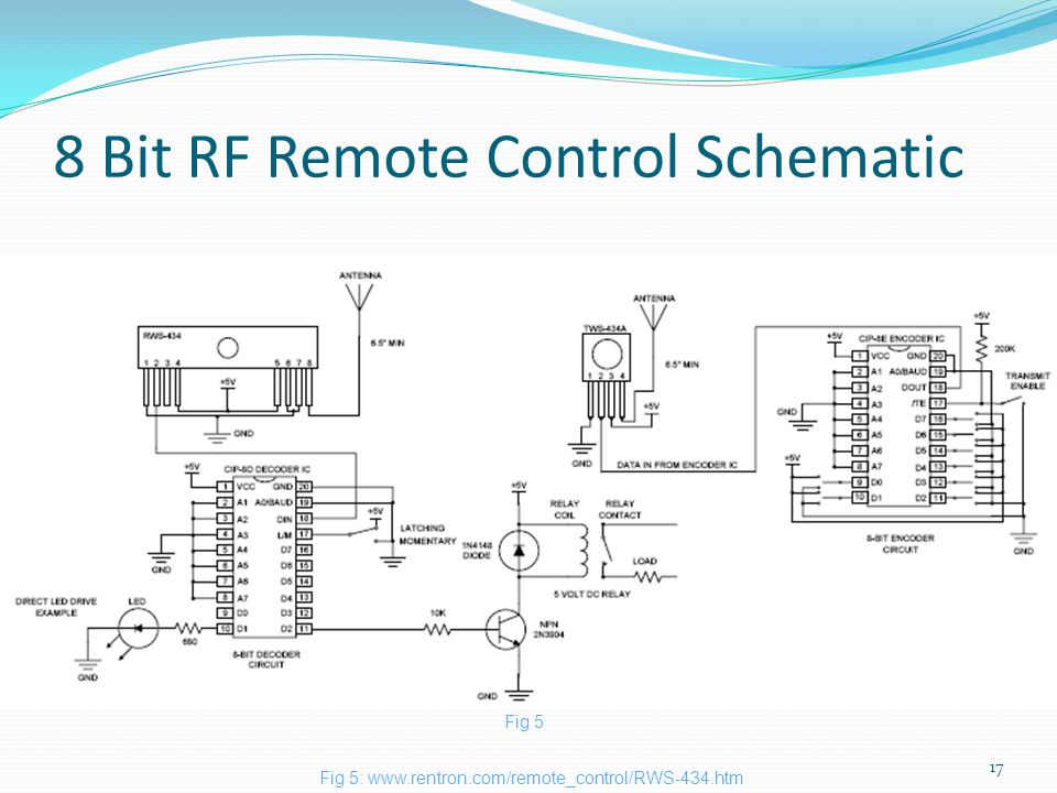 8 Bit RF Remote Control Schematic 17 Fig 5:   Fig 5