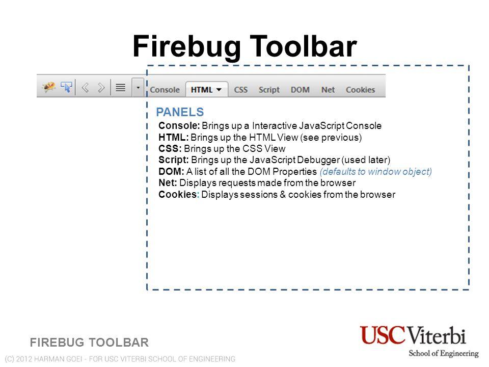 Debugging JavaScript and CSS Using Firebug Harman Goei CSCI