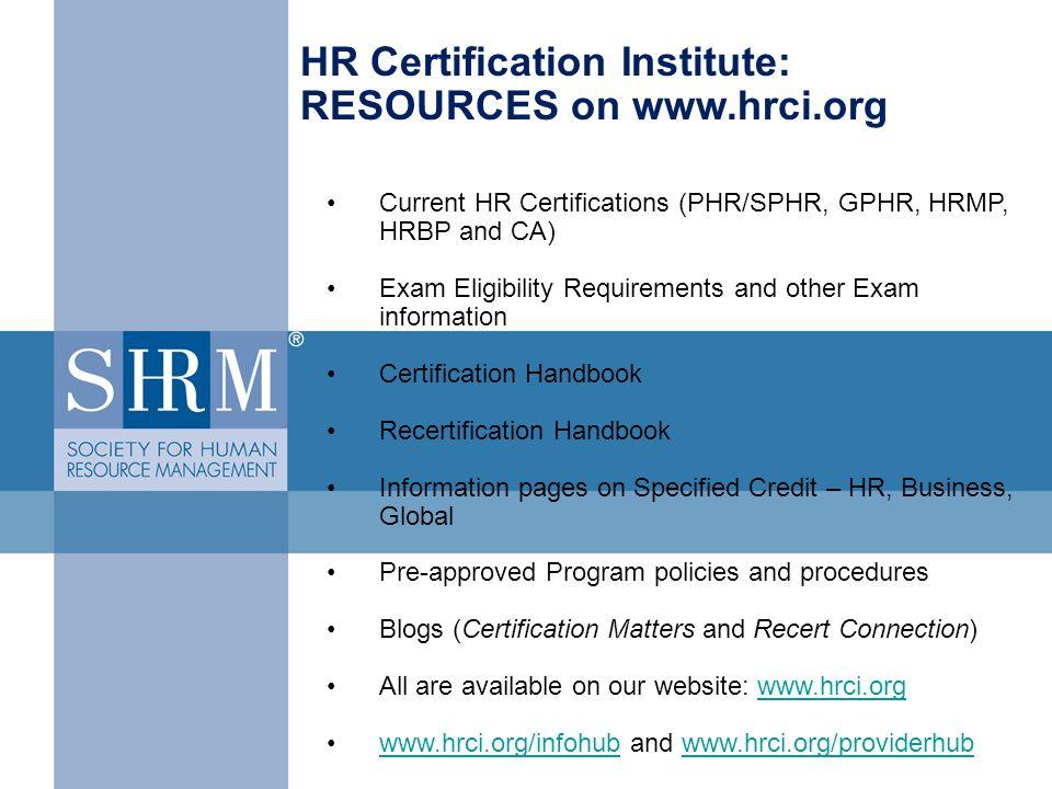 Hr Certification Requirements Gallery - creative certificate design ...