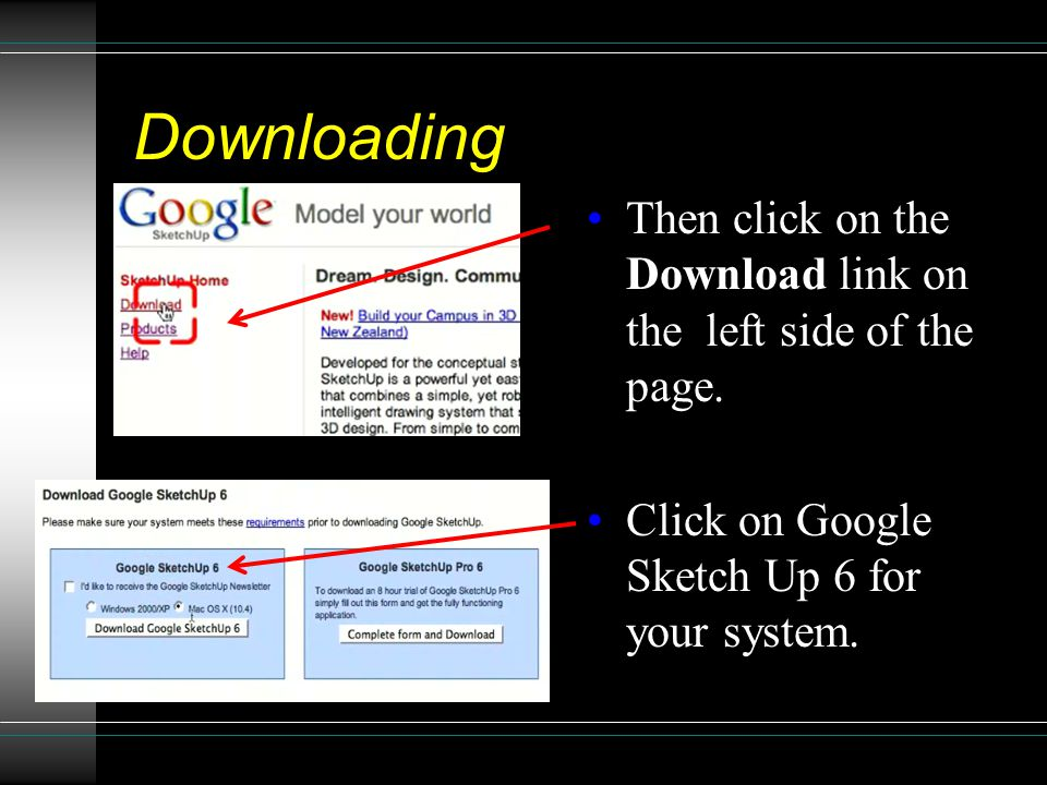 Downloading Then click on the Download link on the left side of the page.