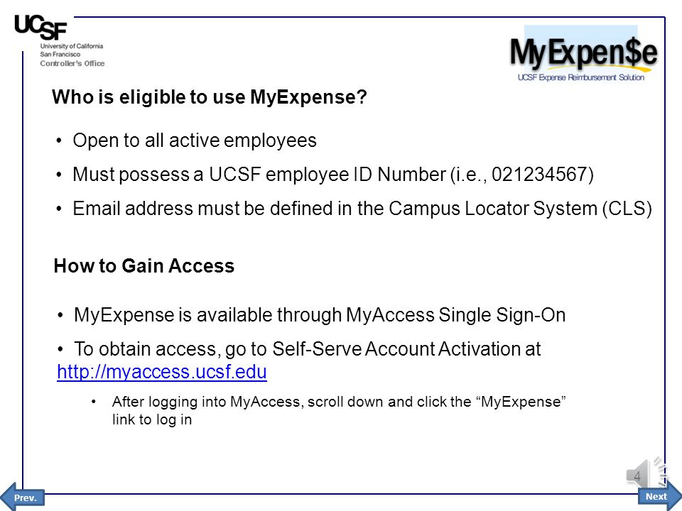 1 Introduction to MyExpense January 2015 Next 2 Overview