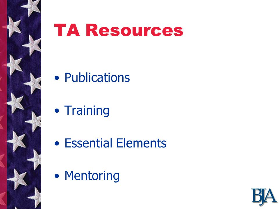 TA Resources Publications Training Essential Elements Mentoring