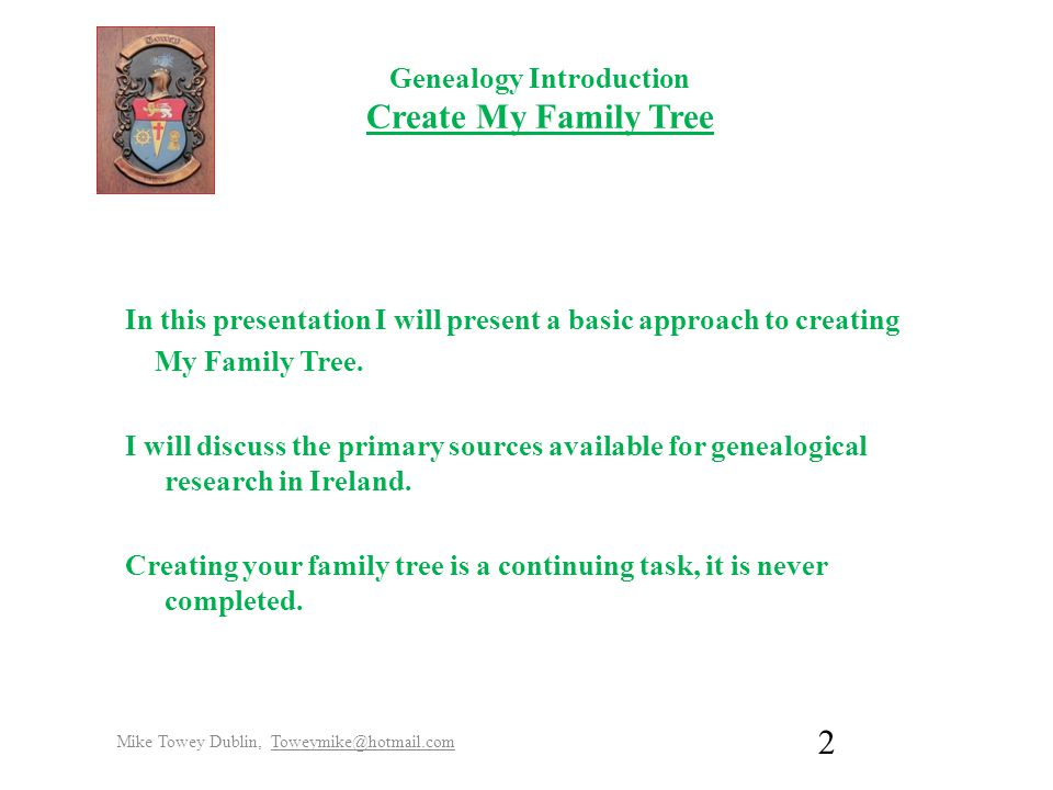 genealogy introduction create an irish family tree by mike towey