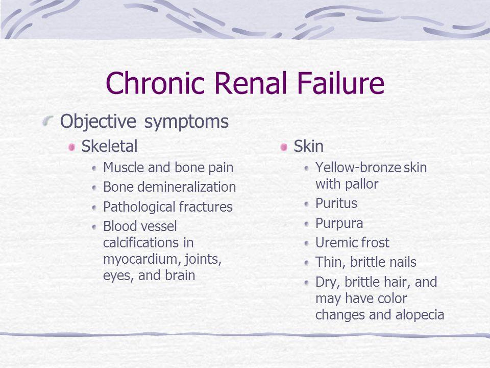 What is renal failure symptoms
