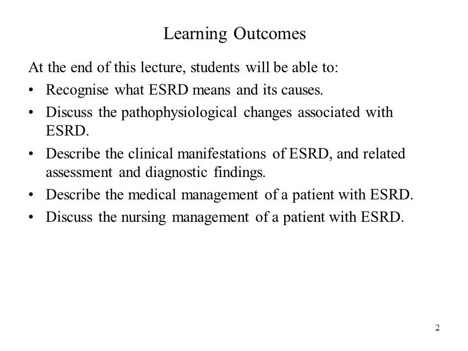 "Chronic Renal Failure (End Stage Renal Disease ""ESRD"") Dr"