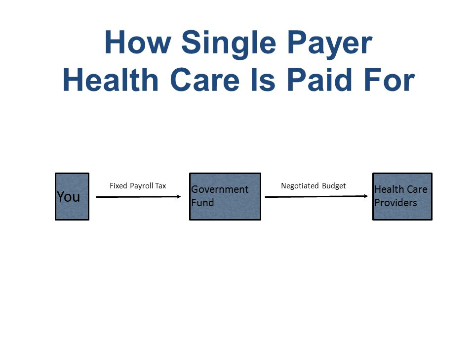 How Single Payer Health Care Is Paid For You Government Fund Health Care Providers Fixed Payroll TaxNegotiated Budget