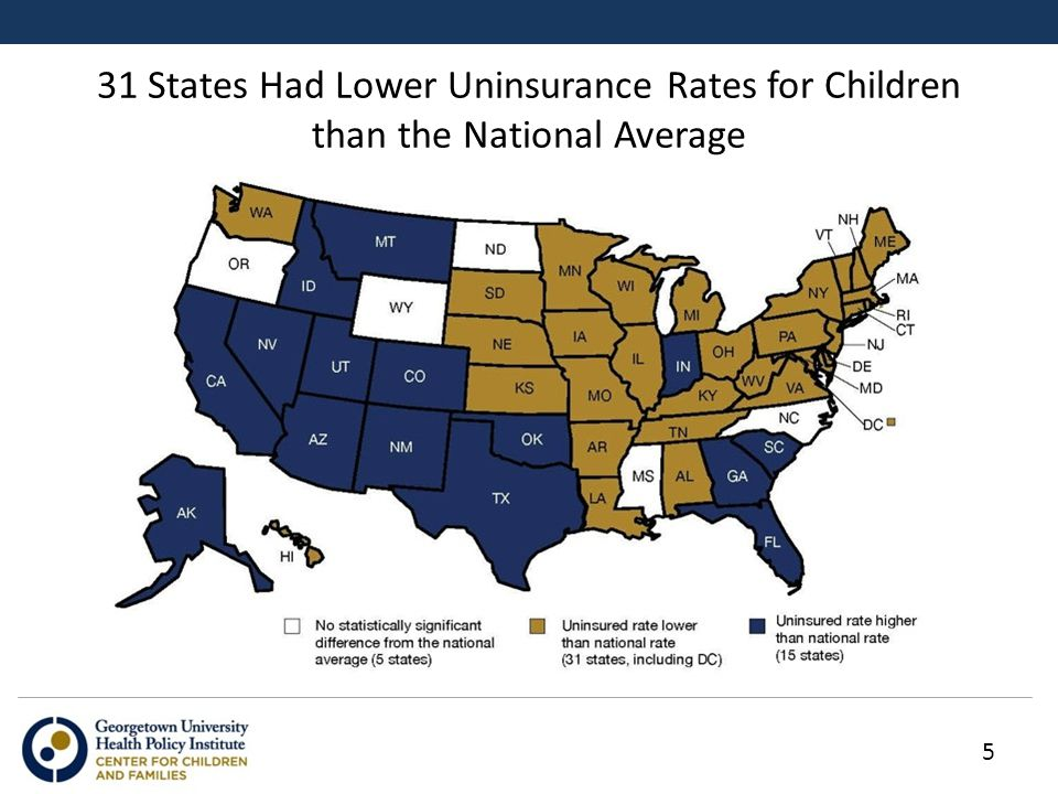 31 States Had Lower Uninsurance Rates for Children than the National Average 5