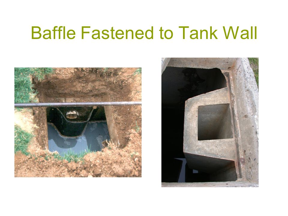 Baffle Fastened to Tank Wall