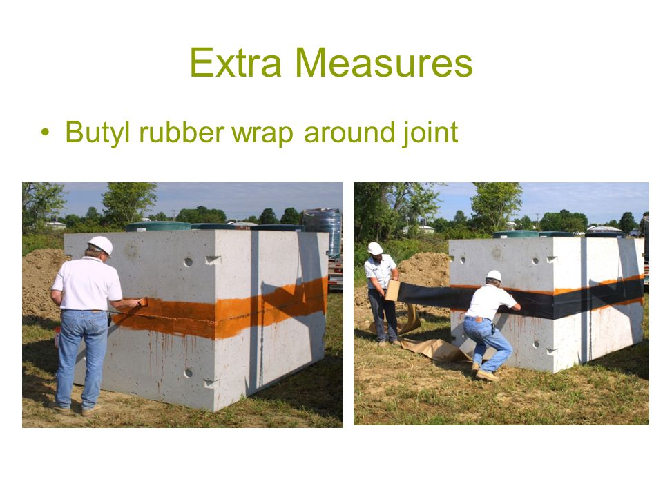 Extra Measures Butyl rubber wrap around joint