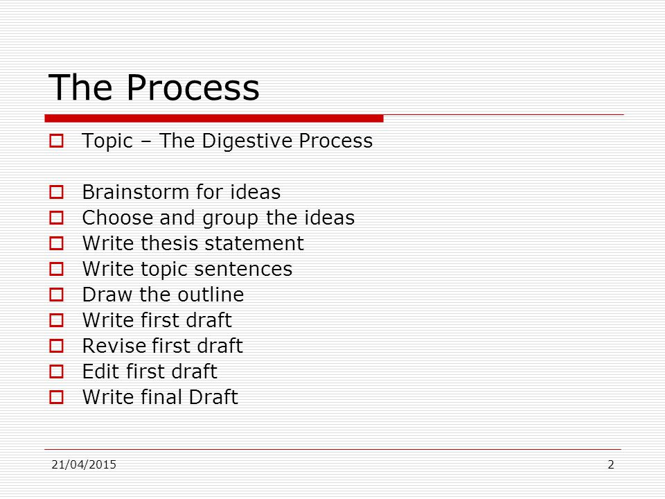 Thesis Essay Examples  Example Essay Papers also Research Paper Essay Example The Process Essay How To Write It  The Process  How To Write A Synthesis Essay
