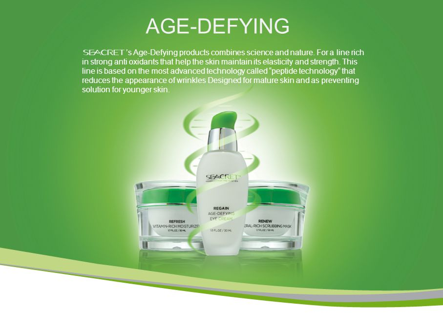 AGE-DEFYING 's Age-Defying products combines science and nature.