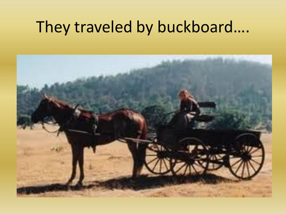 They traveled by buckboard….