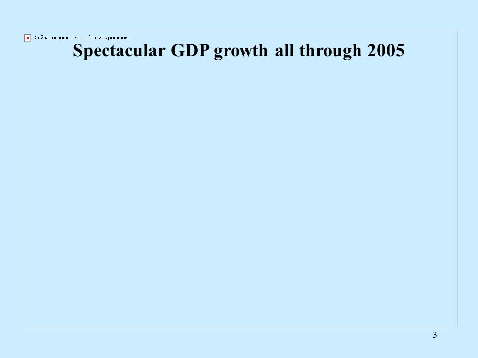 3 Spectacular GDP growth all through 2005