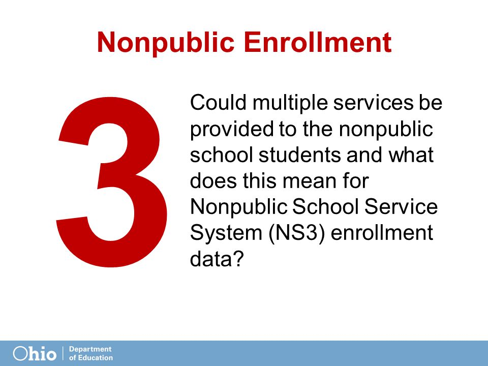 Nonpublic Enrollment Could multiple services be provided to the nonpublic school students and what does this mean for Nonpublic School Service System (NS3) enrollment data.