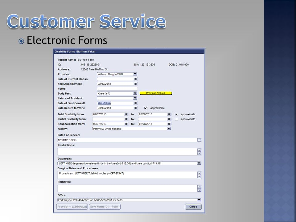  Electronic Forms