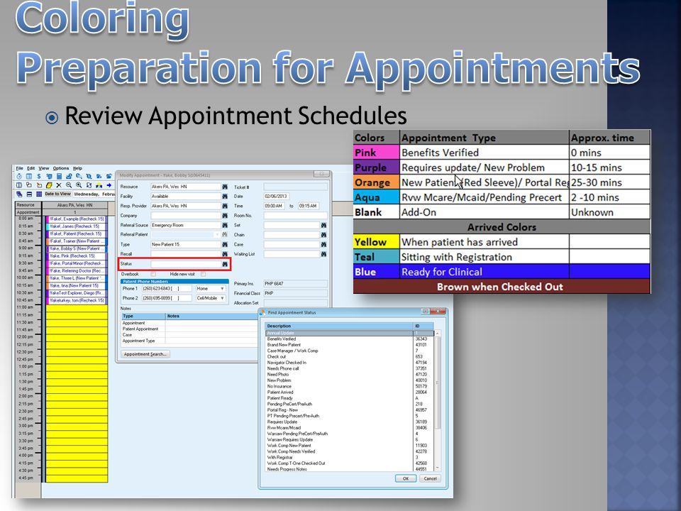  Review Appointment Schedules