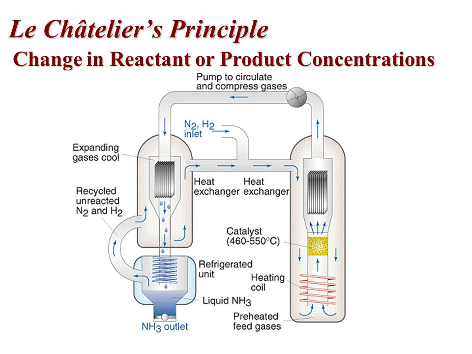 Change in Reactant or Product Concentrations Le Châtelier's Principle