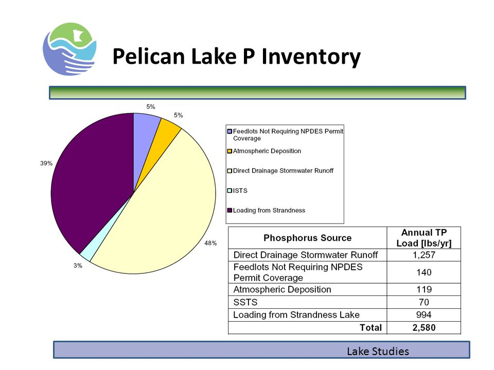 Lake Studies Pelican Lake P Inventory