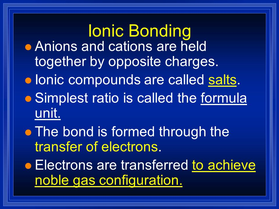 Properties of ionic compounds l You are provided with three ionic compounds l For each carry out the following tests 1.