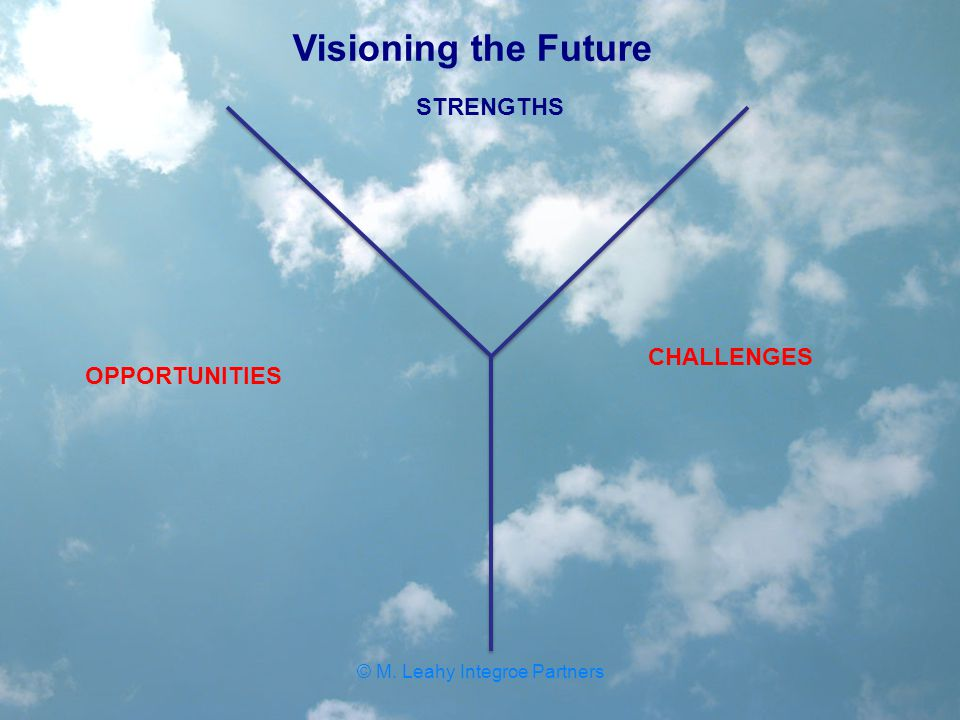 STRENGTHS CHALLENGES OPPORTUNITIES Visioning the Future © M. Leahy Integroe Partners